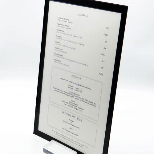 protège-menu A4 recto verso
