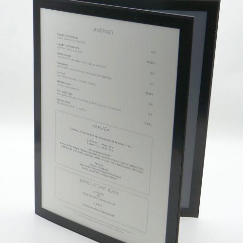 Protège Menu restaurant Neutre A4 2 Volets