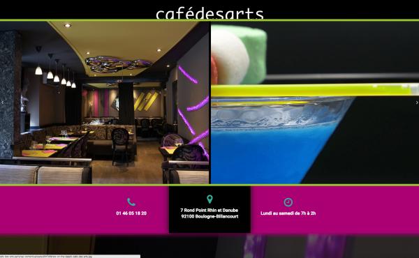 Site Internet Café des Arts Boulogne