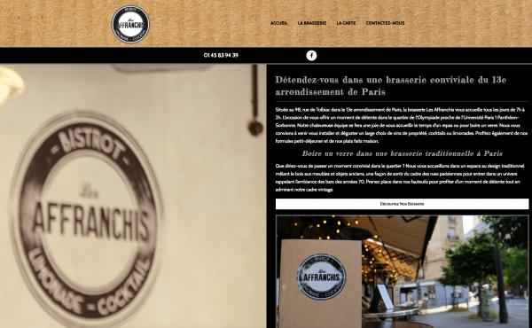 Site Internet Les Affranchis Paris 13