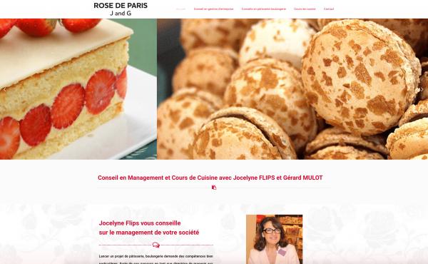 page accueil site internet rose de paris