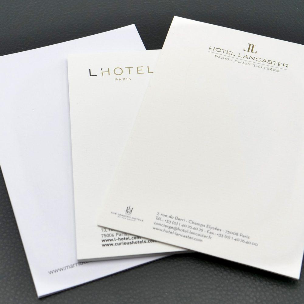 produits hôteliers blocs-notes
