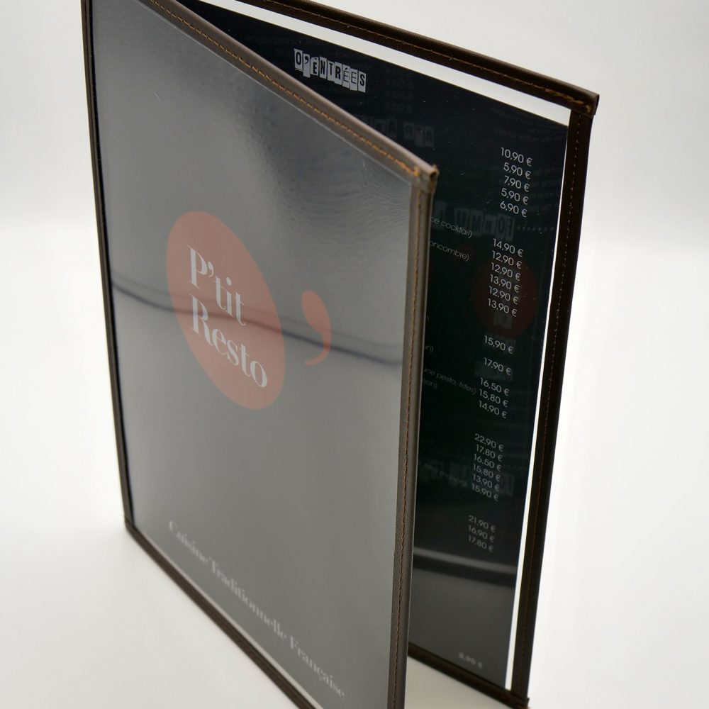 Support protege menu restaurant neutre standard
