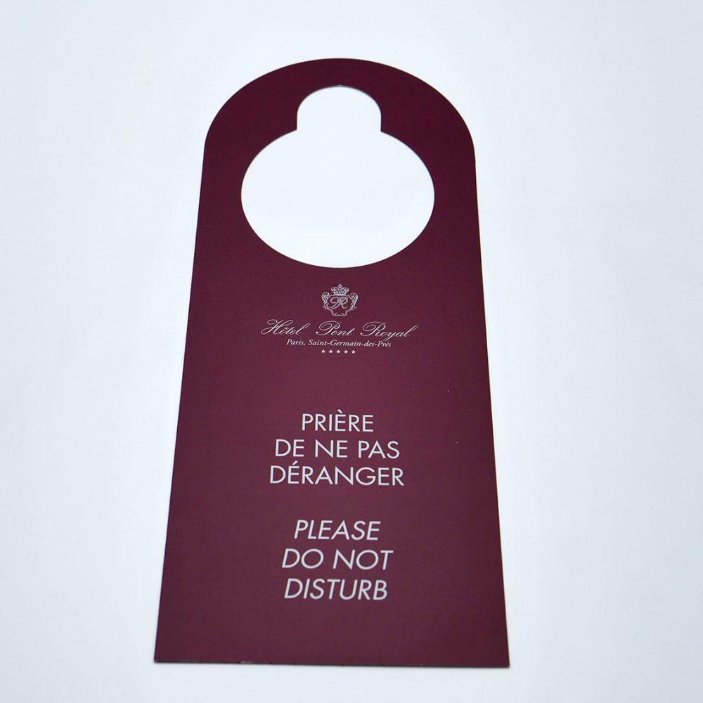 poignée de porte imprimés pour hôtels