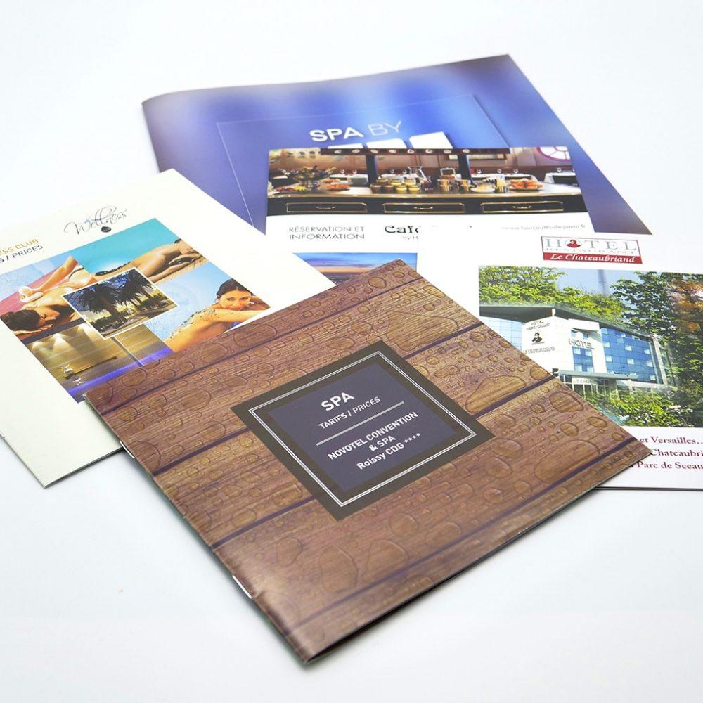 brochure spa imprimée pelliculée
