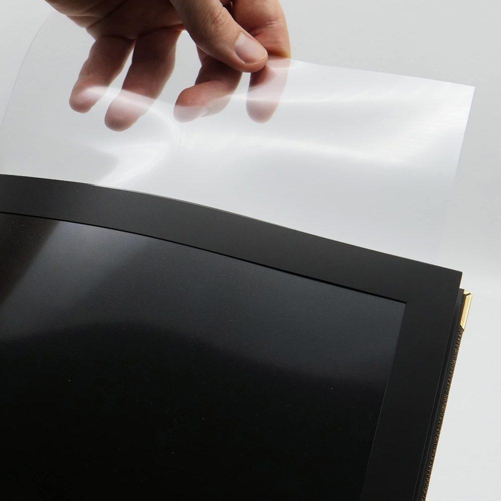 pochette gastro et protection transparente