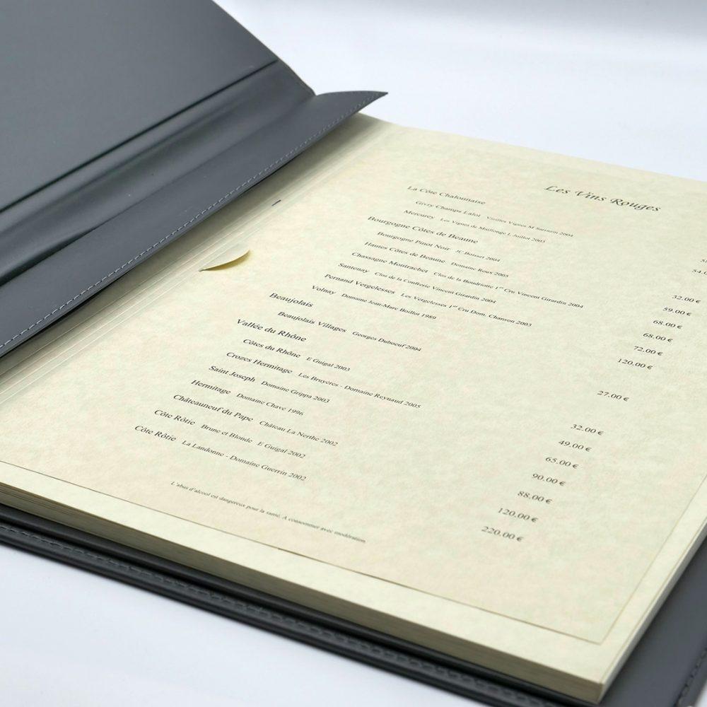 Support protege menu luxe original personnalisé